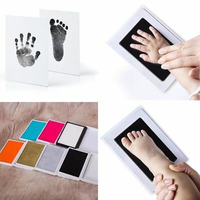 Photo Frame Kit Newborn Baby Handprint and Footprint with Clean Touch Ink Pad CN