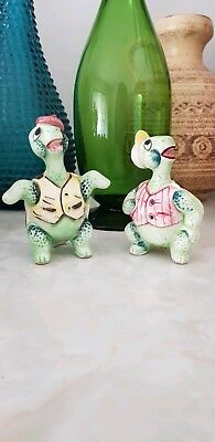 Vintage Kitsch Turtle Salt And Pepper Shakers Made In Japan