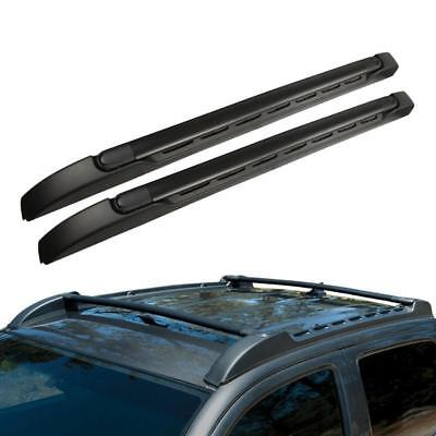 Top Roof Rack Side Rail Cross Bar For 2005-2015 Toyota Tacoma (Double Cab Only)