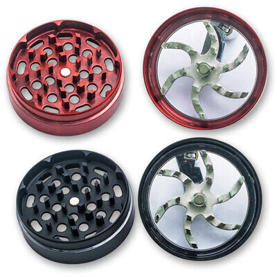 Mill Handle+Genuine Large Spice Tobacco Herb Weed Grinder-4 Pcs 2.5 Best