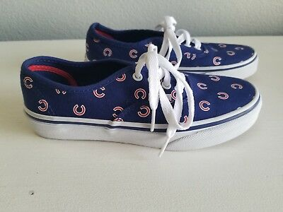 bac7fb4e0ad Vans Authentic MLB Limited Edition Chicago Cubs Shoes children s Size 3