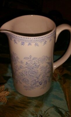 Burleigh Blue Asiatic Pheasants  pitcher pottery
