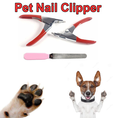 Grooming Tools Pet Nail Toe Claw Clippers Scissors Dog Cat  File Trimmer Cutter