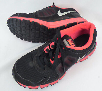 f067f00f1faf4 NIKE DUAL FUSION ST 2 Womens Size 9.5 Med Running Shoes Black Pink Silver