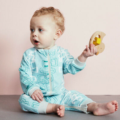 NEW Blue Graphic Zippy Growsuit Boy's by Baobab Clothing