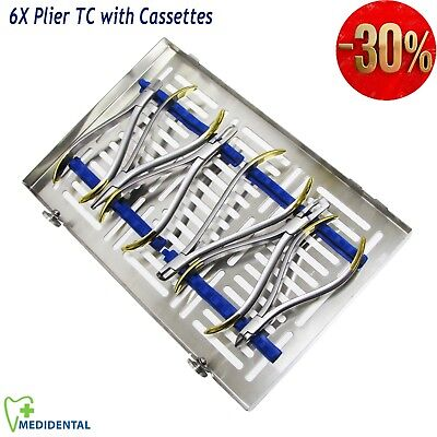 Dental Orthodontics TC Bracket Removing, Arch Bending New Pliers with Cassettes