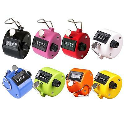 Portable Colorful Digital Hand Held Tally Counter 4 Digit Number Clicker Golf