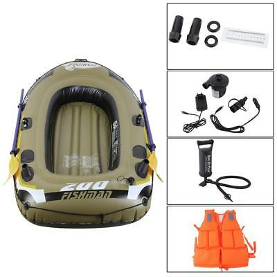 3-person inflatable rubberboat + life jacket