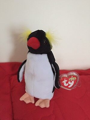4997f63a5be Ty Beanie Babies Baby Frigid the Penguin Soft Toy New With Tag