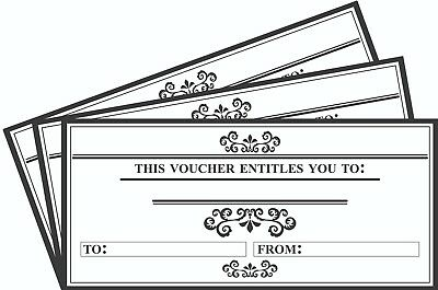 DL Envelope Size 12 x Blank Gift Certificate Vouchers Generic Gift Card Red