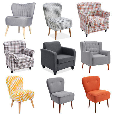Fabric Armchair Unit Tub Chair Sofa Chair Upholstered Lounge Living Room Office