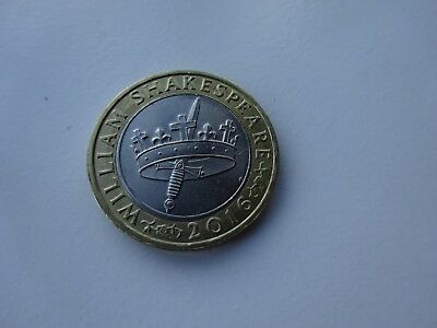 **shakespeare Hollow Crown & Dagger £2 Coin**