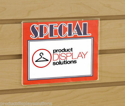 """5.5""""H x 7""""W Slatwall Acrylic Clear Plastic Sign Card Holder 