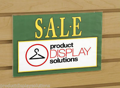 """7""""H X 11""""W Slatwall Acrylic Clear Plastic Sign Card Holder 