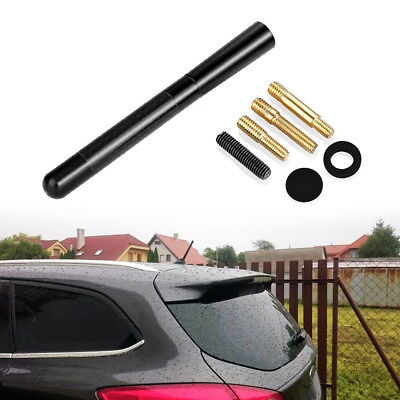 Car Bee-Sting Stubby Short Black Carbon Fibre Aerial Ariel Arial Mast Antenna