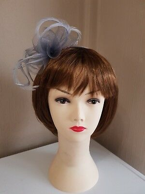 **SALE** Headband Fascinator Silver Grey - Wedding Races  BNWT