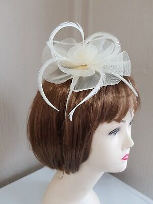 **SALE** Headband Fascinator Ivory/Cream - Wedding Races BNWT