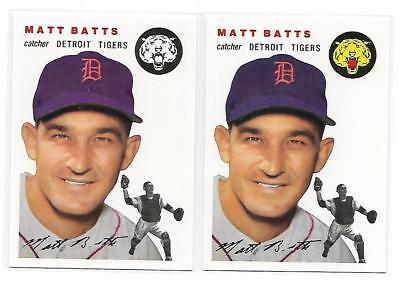 1954 Topps Archives Matt Batts Detroit Tigers #88 Gold & Regular 2Cards