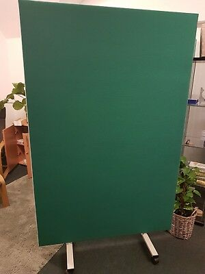 Three Large Office Divider Screens In Jade Green EXCELLENT CONDITION