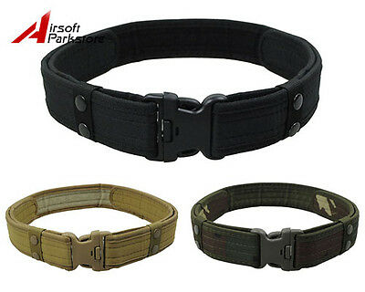 "2"" Tactical Airsoft Outdoor Security Police SWAT Utility Nylon Duty Web Belt"