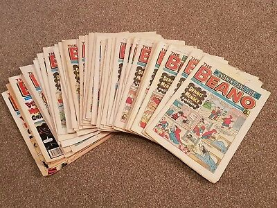 Loft Find - Collectable Job Lot Old Beano Comics Magazines 1980 - 1986