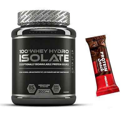 PROTEINE ISOLATE ULTRAFILTRATE 900GR. Xcore 100% Whey Hydro Isolate SS +BARRETTA