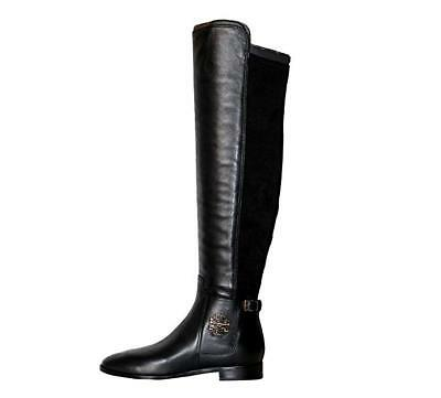 ea799e5ff2e Tory Burch Wyatt Over The Knee Leather Fabric Women s Boots Shoes SIZE 6.5