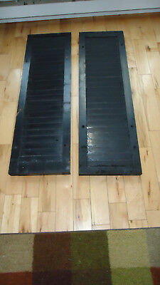 """VINTAGE Old 2 SHUTTERS Wooden 39 5/8"""" x 12 1/8""""  Architectural salvage"""
