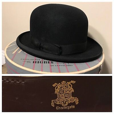 c0614f27c1c Vintage Chestergate Derby Bowler Hat High quality and style NRA code Black  1920s