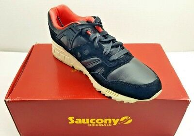 2aaa5ab2 Sz 11 SAUCONY Grid SD Black White Public Garden Mens Sneakers shoes Flat fee