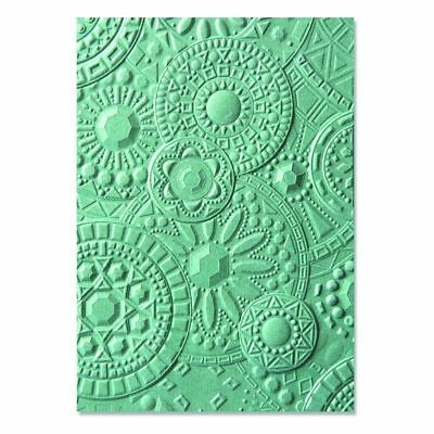 Sizzix 3-D Textured Impressions Embossing Folder Mosaic Gems 663206 Courtney Chi