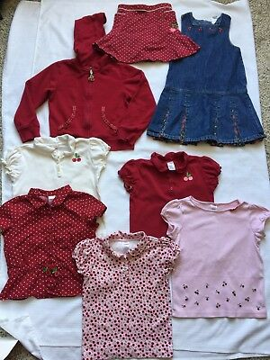 Gymboree Girls Sz 7 Mix Match Outfits 8 Pc Romper Skirt Hoodie Shirts Cherries