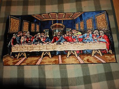The Last Supper Tapestr Made In Italy Wpl 13379 Vtg Wall Art