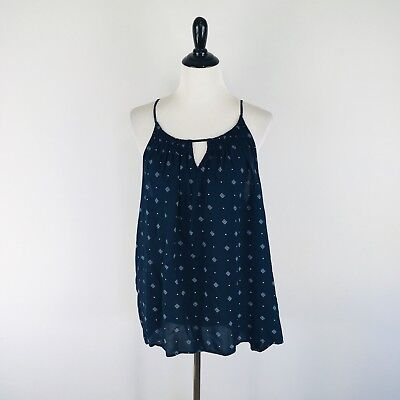 cc93e86d8422d OLD NAVY WOMENS Tank Top Size 2XL Halter Navy Blue Bandana Pullover ...