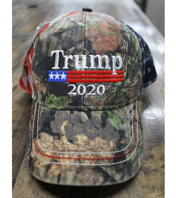 President Donald Trump 2020 Mossy Oak USA Mesh Flag Camo Hat