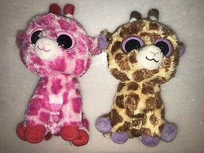 f0d4330ebb2 Lot Of 2 Ty-Beanie Boo Giraffes 6in Safari and Junglelove VGUC