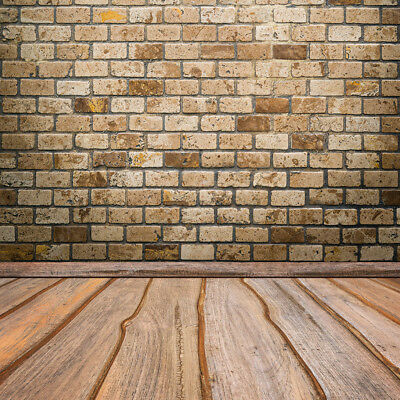 Vintage Brick Wall Rustic Wood Board 10X10FT Studio Background Vinyl Backdrops