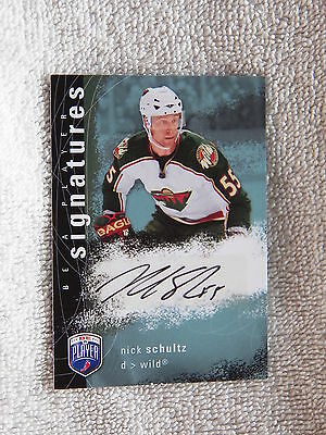 Minnesota Wild Mark Parrish Signed 200708 Bap Be A Player Card Auto