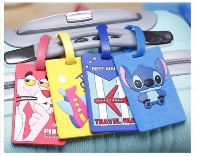 Cute Luggage Baggage Tags Suitcase Label Name Address ID Travel Cartoon Variety