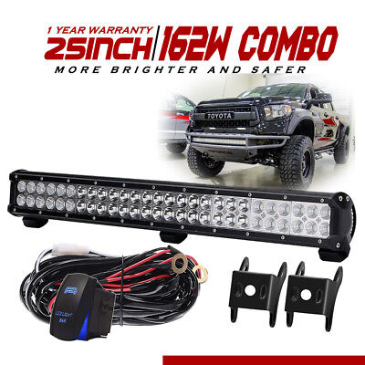 162W 25inch Led Light Bar Spot Flood For Offroad SUV 4WD Jeep Truck UTE Slim