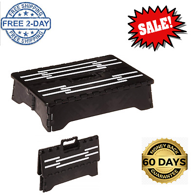 Large Folding Step Stool Low Rise 4 Inch Mobility Portable