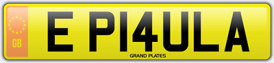 Paula E number plate PAULAS CHERISHED CAR REGISTRATION EP14 ULA ALL FEES PAID