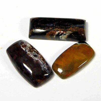 17.65Cts100% Natural Golden Pietersite Cushion Cabochon Loose Gemstone lot