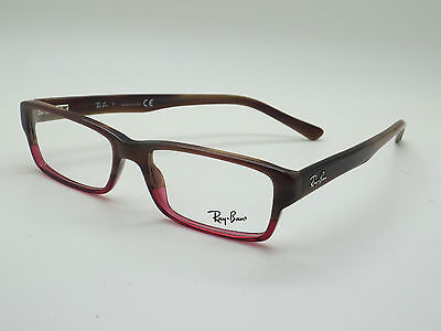 8ee97f929f9 NEW Authentic Ray Ban RB 5169 5541 Brown Horn-Burgundy 52mm RX Eyeglasses