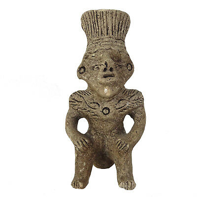 Pre-Columbian Effigy Figure Mayan Terracotta Pottery Warrior Inca Artifact Aztec