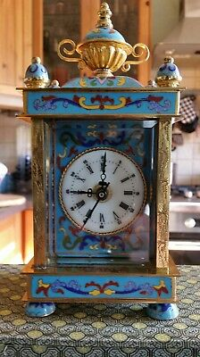 Cloisonne Style Clock made in the republic of China. No. 11