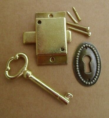 Cabinet Door Lock Set Key Curio Grandfather Clock China Jewlery NEW # 5