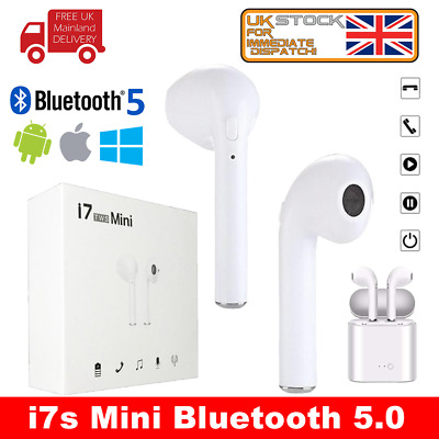 i7 Mini EarPods Bluetooth Headphones Mini I7s TWS Wireless Headset In-Ear iPhone