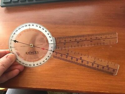 Exacts Goniometer 12 Length 1 Degree Increments