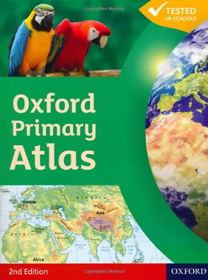 Oxford Primary Atlas Paperback (2nd Edition), Very Good Condition Book, , ISBN 9